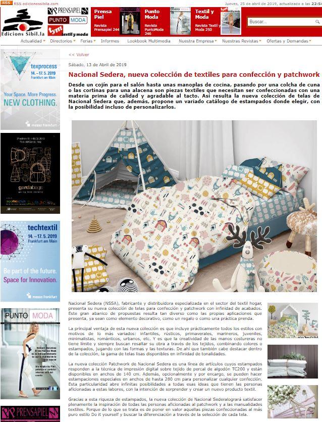 Nacional Sedera, nueva colección de textiles para confección y patchwork