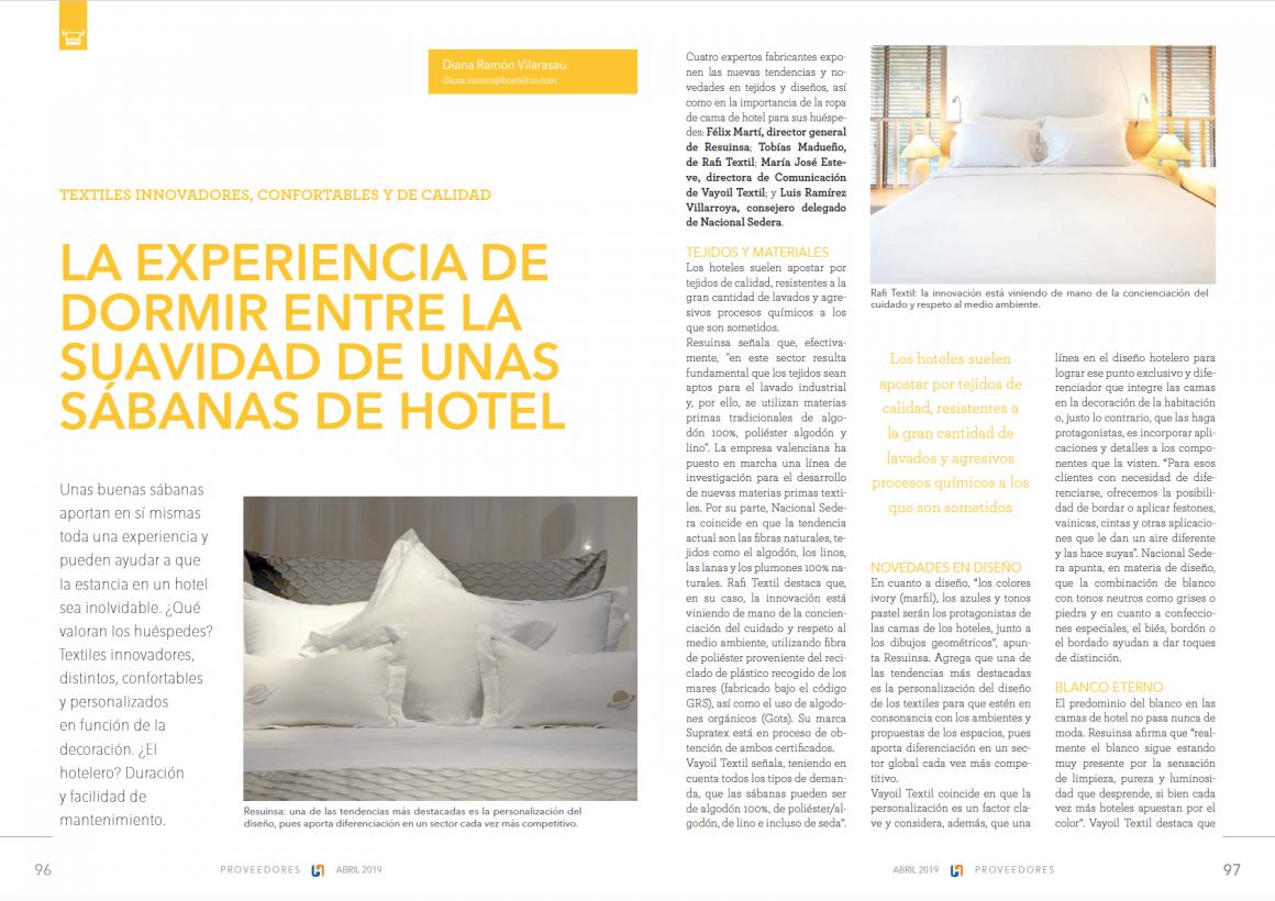 La experiencia de dormir entre la suavidad de unas sábanas de hotel