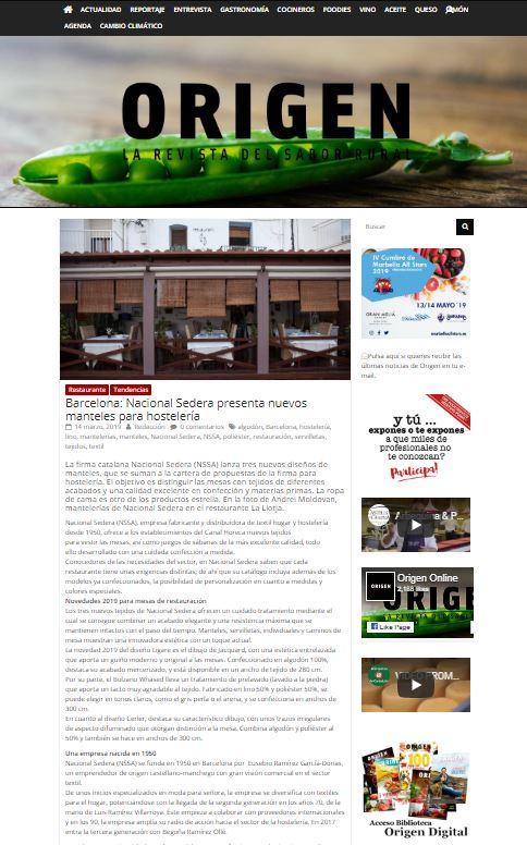 Barcelona: Nacional Sedera presenta nuevos manteles para hostelería